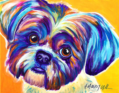 Shih Tzu - Dreamy Original by Alicia VanNoy Call