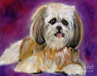 Shih-tzu Puppy Art Print by Jenny Lee
