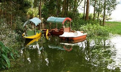Peddle Photograph - Shikara Boat by Art Spectrum