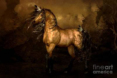 Bass Digital Art - Shikoba Choctaw Horse by Shanina Conway