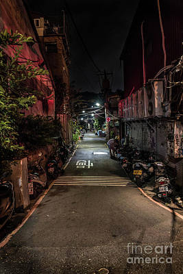 Featured Tapestry Designs - Shilin Night Market Road by Dennis Greenhill