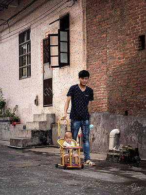 Photograph - Shilong Pedestrians by Endre Balogh