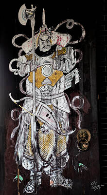 Photograph - Shilong Temple Door Painting by Endre Balogh