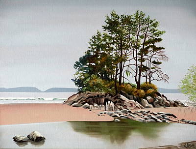 Rocks. Tidal Pool Painting - Shima Bonsai by Elissa Anthony