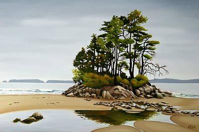 Rocks. Tidal Pool Painting - Shima Bonsai II by Elissa Anthony