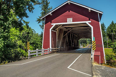 Photograph - Shimanek Covered Bridge by Matthew Irvin