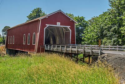 Photograph - Shimanek Covered Bridge No. 2 by Matthew Irvin