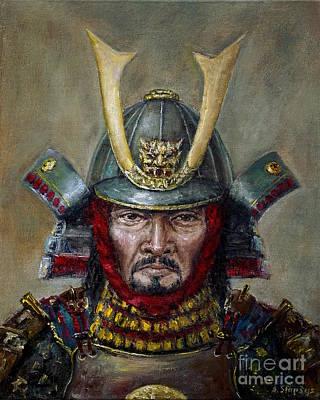Painting - Shimazu Yoshihisa by Arturas Slapsys