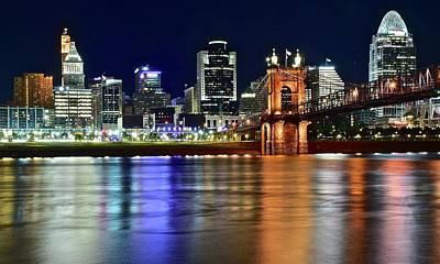 Photograph - Cincinnati Shimmer And Shine by Frozen in Time Fine Art Photography