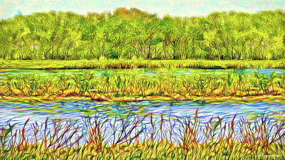Digital Art - Shimmering Emerald Pond - Boulder County Colorado by Joel Bruce Wallach