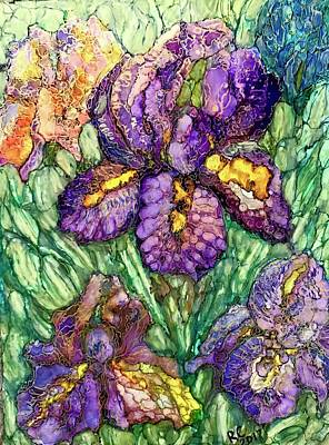Painting - Shimmering Irises by Rae Chichilnitsky