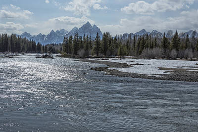 Photograph - Shimmering Snake River And The Tetons by Belinda Greb