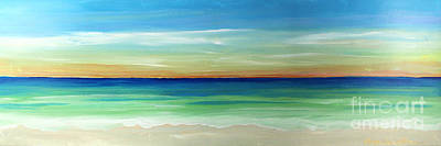 Painting - Shimmering Sunset by Robyn Saunders