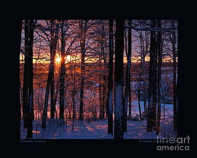 Photograph - Shimmery Sunrise by Patricia Overmoyer