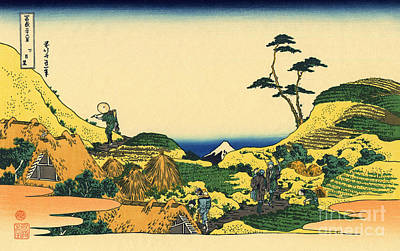 Oriental Art Painting - Shimomeguro by Hokusai
