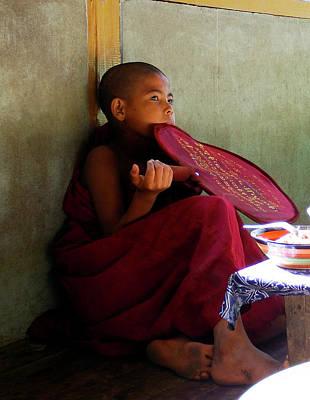 Photograph - Shin-pyu, Novice Monk by Kurt Van Wagner