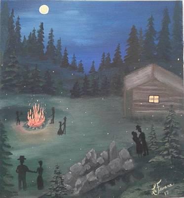 Bob Ross Style Painting - Shindig by Lori Lafevers