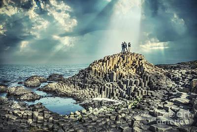 Giants Causeway Photograph - Shine Forever by Evelina Kremsdorf