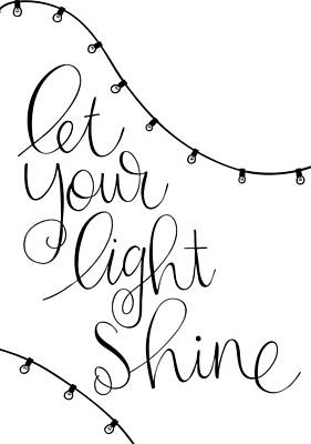 Bible Verse Drawing - Shine by Nancy Ingersoll