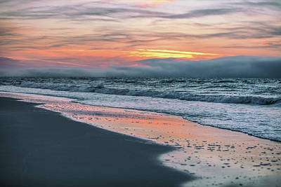 Print featuring the photograph Shine On Me Beach Sunrise  by John McGraw