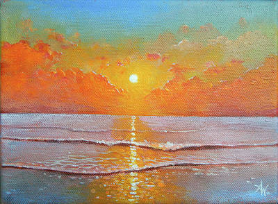 Painting - Shine Silently by Arie Van der Wijst