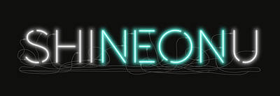 Digital Art - Shineonu - Neon Sign 1 by David Hargreaves