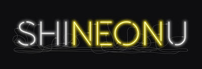 Digital Art - Shineonu - Neon Sign 3 by David Hargreaves