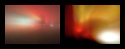 Photograph - Shineonucrazydiamond Diptych 01 Onblack by David Hargreaves