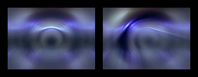 Photograph - Shineonucrazydiamond Diptych 09 Onblack by David Hargreaves