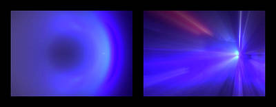 Photograph - Shineonucrazydiamond Diptych 10 Onblack by David Hargreaves