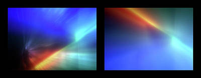 Photograph - Shineonucrazydiamond Diptych 14 Onblack by David Hargreaves