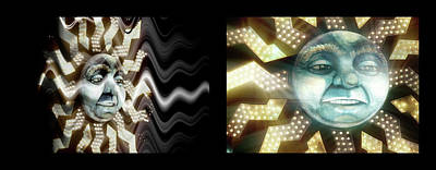 Photograph - Shineonucrazydiamond Diptych 19 Onblack by David Hargreaves
