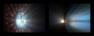 Photograph - Shineonucrazydiamond Diptych 21 Onblack by David Hargreaves