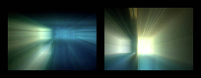 Photograph - Shineonucrazydiamond Diptych 24 Onblack by David Hargreaves