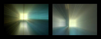 Photograph - Shineonucrazydiamond Diptych 25 Onblack by David Hargreaves