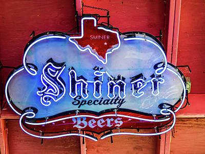 Shiner Photograph - Shiner Beer Sign by Michelle Lewis
