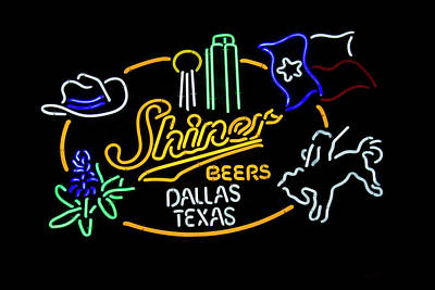 Shiner Beers Dallas Texas Art Print