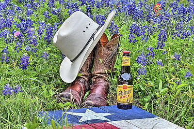 Photograph - Shiner Bock The Texas Beer by JC Findley