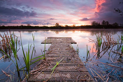 Photograph - Shinewater Lake Sunrise by Will Gudgeon