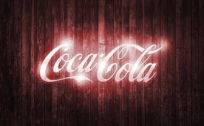 Shining Coca Cola Barn Door Art Print