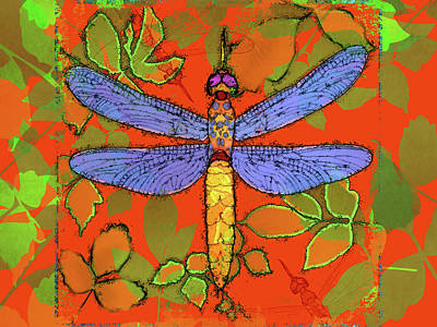 Shining Dragonfly Art Print