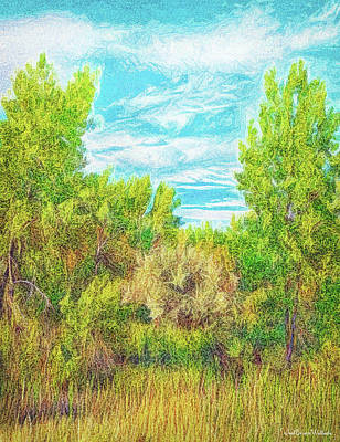 Digital Art - Shining Forest Afternoon by Joel Bruce Wallach
