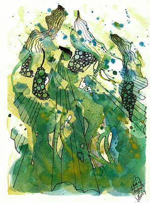 Drawing - Shining by Julia Zoellner