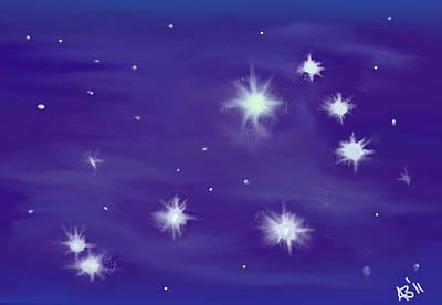 Pleiades Digital Art - Shining Maia by Andy Bell