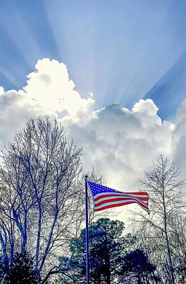 Photograph - Shining Patriotism  by Mary Hahn Ward