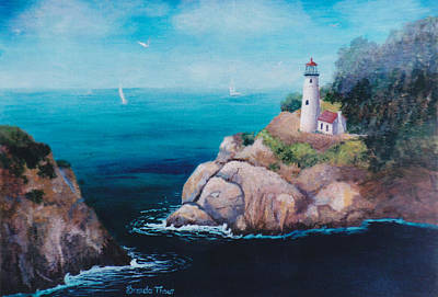 Painting - Shining Point Light by Brenda Thour