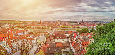 Photograph - Shining Roofs Of Wurzburg by JR Photography