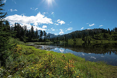 Photograph - Shining Sun At Picture Lake by Tom Cochran