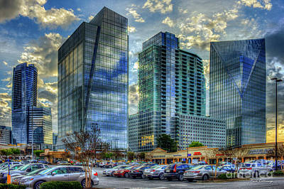 Reflective Glass A Shining Sunrise The Terminus Complex 2 Buckhead Atlanta Art Art Print