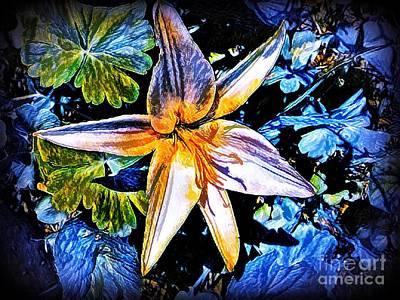 Lilies Mixed Media - Shining Through by Debra Lynch